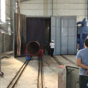 Phòng phun bi làm sạch đường ống